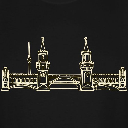 Oberbaum Bridge in Berlin - Men's Tall T-Shirt