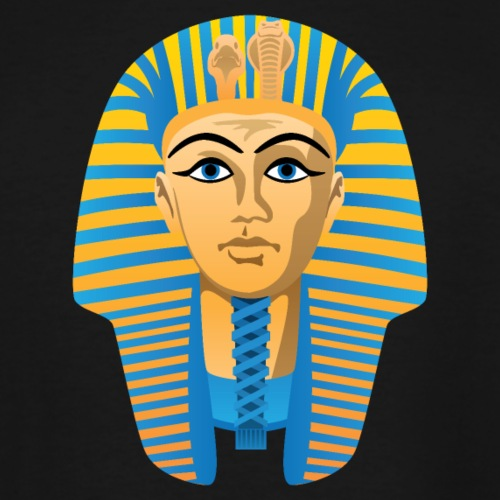 Egyptian Golden Pharaoh Burial Mask - Men's Tall T-Shirt