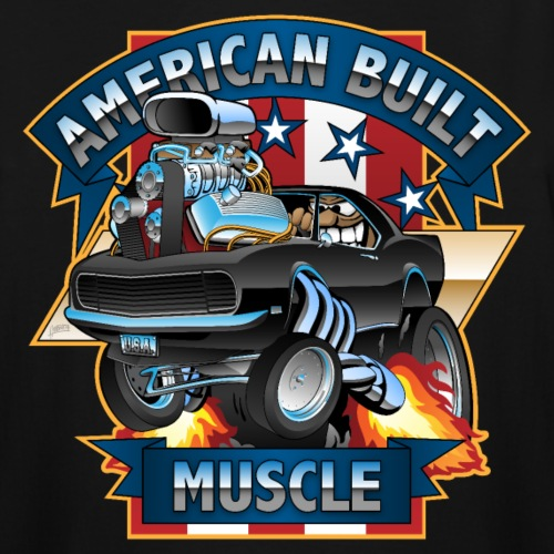 American Built Muscle - Classic Muscle Car Cartoon - Men's Tall T-Shirt