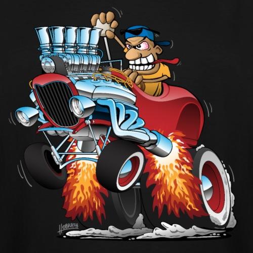 Highboy Hot Rod Race Car Cartoon - Men's Tall T-Shirt