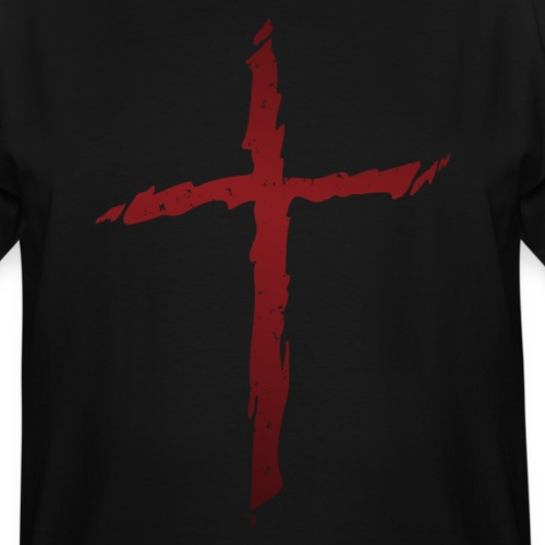 Old rugged distressed christian cross - Men's Tall T-Shirt