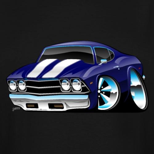 Classic American Muscle Car Cartoon - Men's Tall T-Shirt