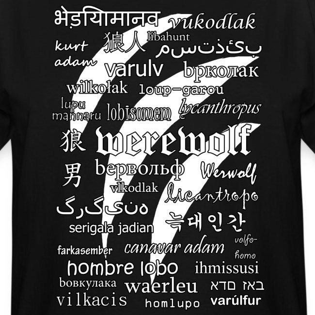 Werewolf in 33 Languages (Black Version)