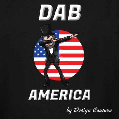 DAB AMERICA WHITE - Men's Tall T-Shirt