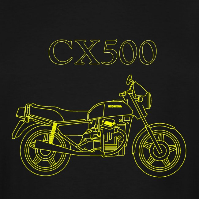 CX500 line drawing