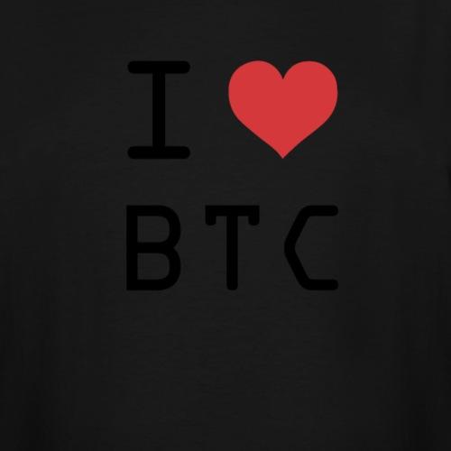 I HEART BTC (Bitcoin) - Men's Tall T-Shirt