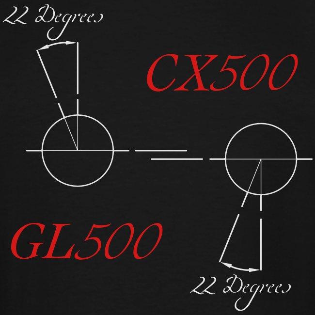 CX500 and GL500 - 22 degree twist