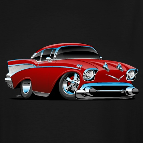 Classic hot rod 57 muscle car - Men's Tall T-Shirt