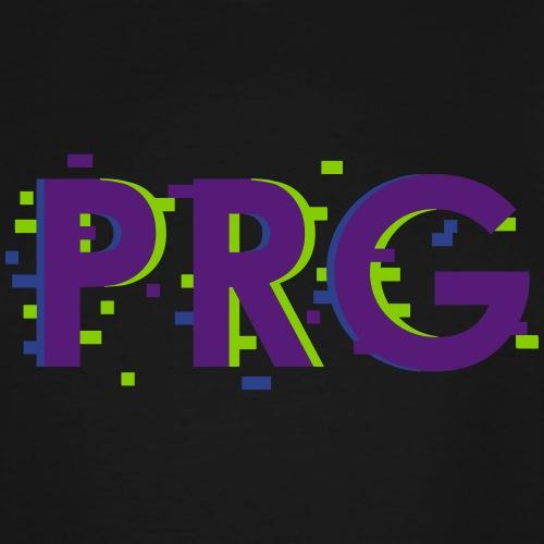 PRG distorted Neon libertarian Design - Men's Tall T-Shirt