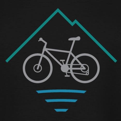 Outdoor Mountain Bike Logo - Men's Tall T-Shirt