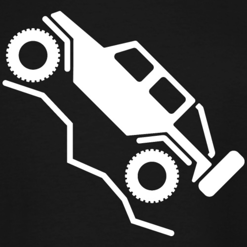 Offroad 4wd Rock Crawling Logo - Men's Tall T-Shirt