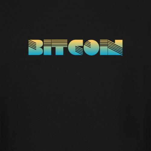 Bitcoin Art Deco Design - Men's Tall T-Shirt