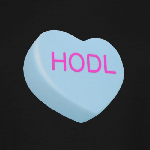 HODL - Hold on For Dear Life - Candy Heart - blue - Men's Tall T-Shirt