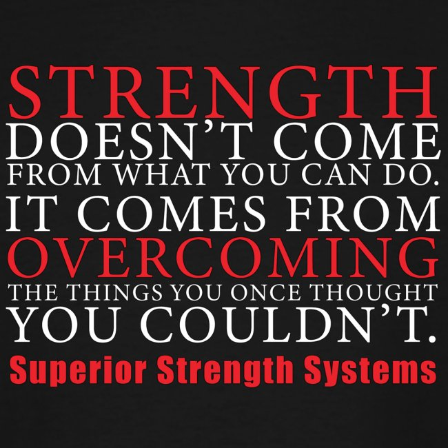 Strength Doesn t Come from