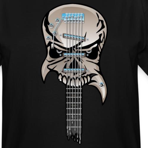 Skull Guitar - Men's Tall T-Shirt