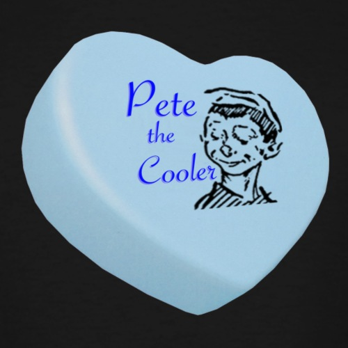 Pete the Cooler Candy Heart - blue - Men's Tall T-Shirt