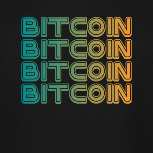 Bitcoin Art Deco Tshirt - Men's Tall T-Shirt
