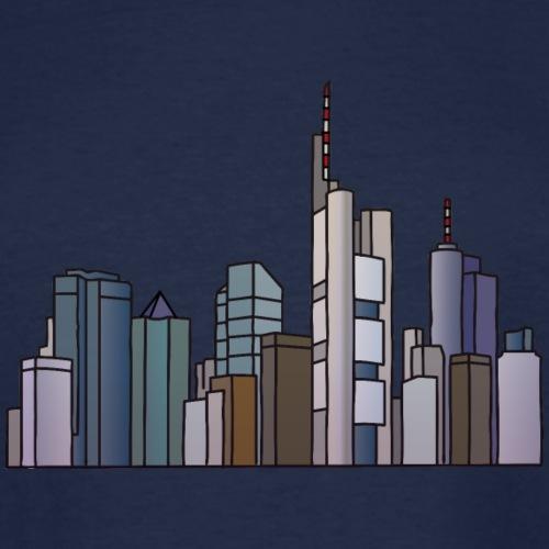 Frankfurt skyline - Men's Tall T-Shirt