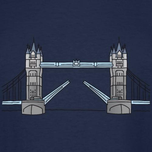 London tower bridge, landmark of London UK - Men's Tall T-Shirt