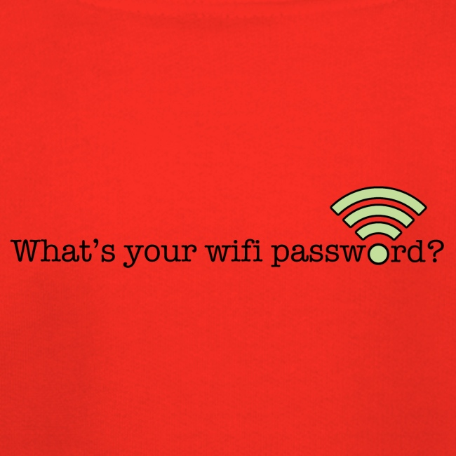What's your wifi password?