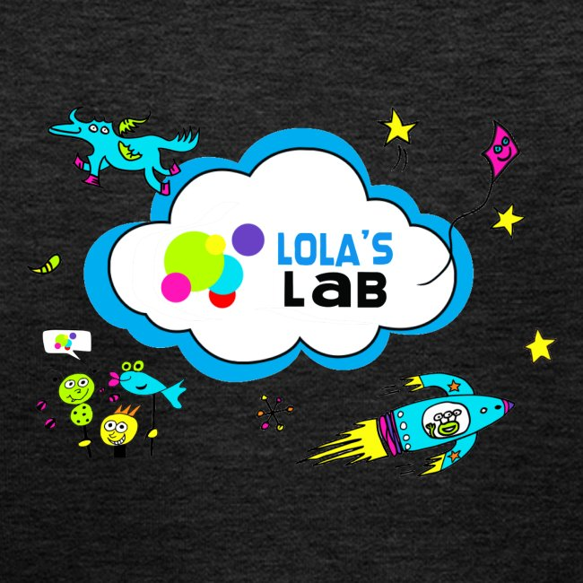 Lola's Lab illustrated logo tee
