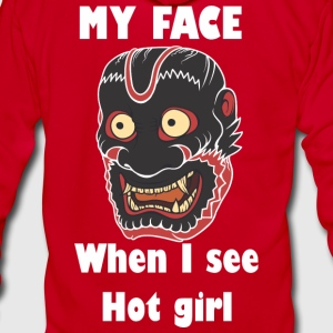 My face When I see hot girl - Unisex Fleece Zip Hoodie by American Apparel