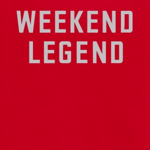 Weekend legend gift shirt - Unisex Fleece Zip Hoodie by American Apparel