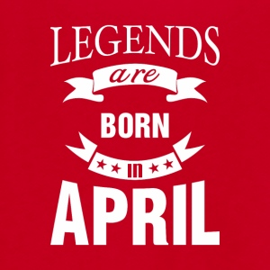 Legends are born in April - Unisex Fleece Zip Hoodie by American Apparel