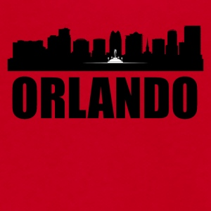 Orlando FL Skyline - Unisex Fleece Zip Hoodie by American Apparel