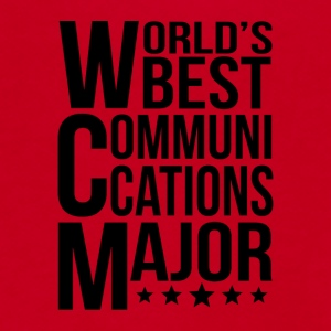 World's Best Communications Major - Unisex Fleece Zip Hoodie by American Apparel
