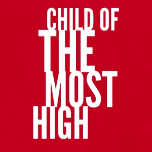 Child of the most high - white - Unisex Fleece Zip Hoodie by American Apparel