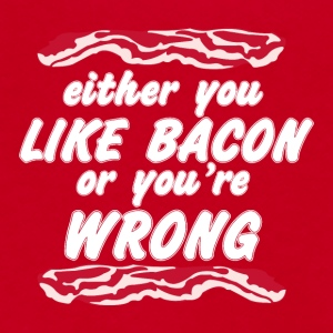 Either You Like Bacon Or You re Wrong - Unisex Fleece Zip Hoodie by American Apparel