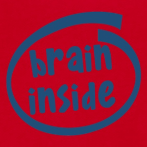 brain inside (1800C) - Unisex Fleece Zip Hoodie by American Apparel