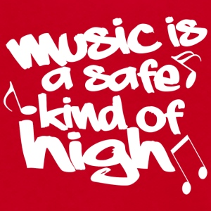 Music is a safe kind of high - Unisex Fleece Zip Hoodie by American Apparel