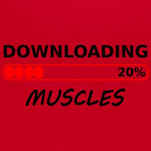 downloading muscles tshirt - Unisex Fleece Zip Hoodie by American Apparel