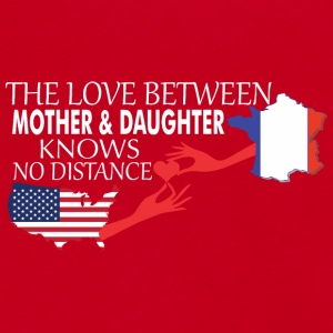 Mother & Daughter Knows No Distance US & France - Unisex Fleece Zip Hoodie by American Apparel