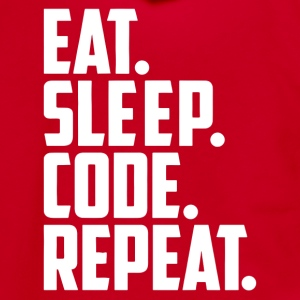 eat sleep code and repeat - Unisex Fleece Zip Hoodie by American Apparel