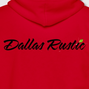 dallas rustic blk - Unisex Fleece Zip Hoodie by American Apparel