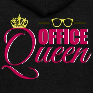 Cute Office Queen T-Shirt for Secretary - Unisex Fleece Zip Hoodie by American Apparel