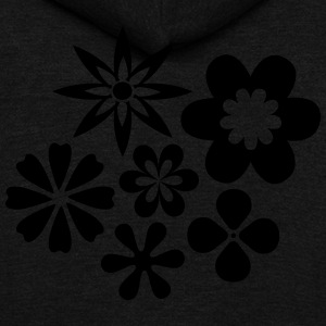 Flower Power - Unisex Fleece Zip Hoodie by American Apparel