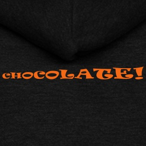 chocolate now - Unisex Fleece Zip Hoodie by American Apparel