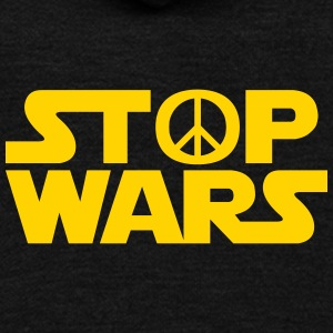 Stop Wars - Unisex Fleece Zip Hoodie by American Apparel