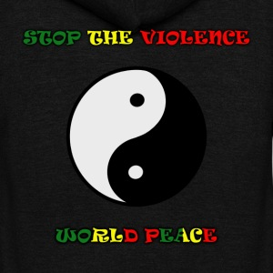 Black STOP THE VIOLENCE T-Shirts and Hoodies - Unisex Fleece Zip Hoodie by American Apparel