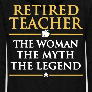 Retired Teacher T Shirt - Unisex Fleece Zip Hoodie by American Apparel