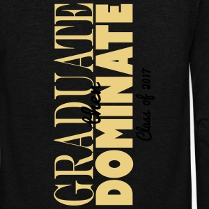 graduate then dominate - Unisex Fleece Zip Hoodie by American Apparel