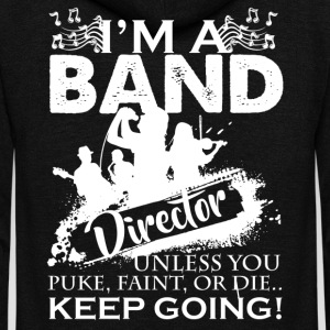 Band Director Shirt - Unisex Fleece Zip Hoodie by American Apparel