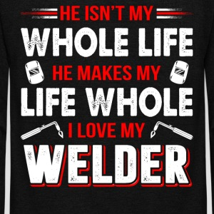 I Love My Welder T Shirt - Unisex Fleece Zip Hoodie by American Apparel