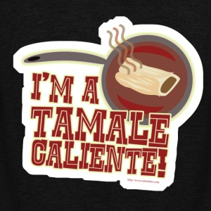 I Am A Tamale Caliente - Unisex Fleece Zip Hoodie by American Apparel