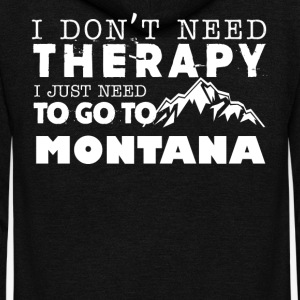 Montana Therapy Shirt - Unisex Fleece Zip Hoodie by American Apparel