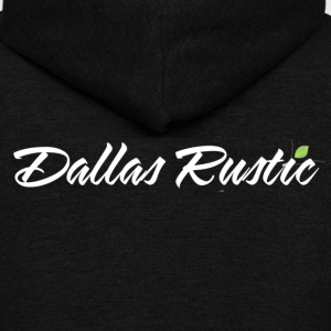 dallas rustic wht - Unisex Fleece Zip Hoodie by American Apparel